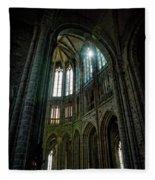 Abbey With Heavenly Light Fleece Blanket