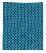 Abby Damask In Black Pattern 18-p0113 Fleece Blanket