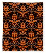 Abby Damask With A Black Background 03-p0113 Fleece Blanket
