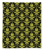 Abby Damask With A Black Background 05-p0113 Fleece Blanket