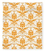 Abby Damask With A White Background 03-p0113 Fleece Blanket