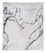 Abduction Of A Woman Rape Of The Sabine Women 1495 Fleece Blanket