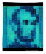 Abe In Aqua Fleece Blanket