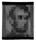 Abe In Black And White Fleece Blanket