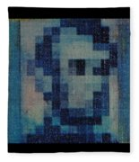 Abe In Light Blue Fleece Blanket