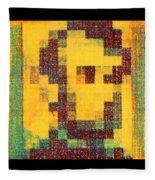 Abe In Yellow Fleece Blanket