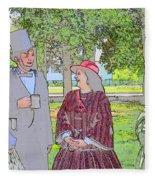 Abe Talks To The Ladies Fleece Blanket
