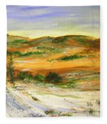 Aberdeen Winter Landscape Fleece Blanket