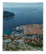 Above Dubrovnik - Croatia Fleece Blanket