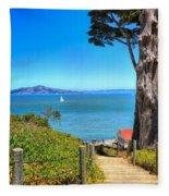 Above San Francisco Bay Fleece Blanket