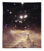 Above The Heavens Fleece Blanket