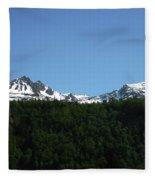 Above The Treetops Fleece Blanket