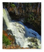 Above Undine Falls Fleece Blanket
