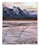 Abraham Lake Ice Sheets Fleece Blanket