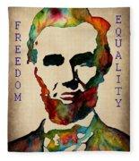 Abraham Lincoln Leader Qualities Fleece Blanket