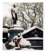 Abraham Lincoln Memorial Scotland Winter Fleece Blanket