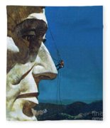 Abraham Lincoln's Nose On The Mount Rushmore National Memorial  Fleece Blanket