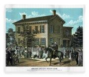 Abraham Lincoln's Return Home Fleece Blanket