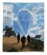 Abraham Martin And John Fleece Blanket