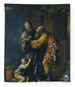 Abraham Pleading With Sarah On Behalf Of Hagar Fleece Blanket