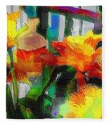 Absinthe Daffies Fleece Blanket
