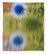 Abstact Sphere Over Water Fleece Blanket