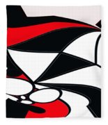 Abstrac7-30-09-b Fleece Blanket