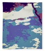 Abstract 021 Fleece Blanket