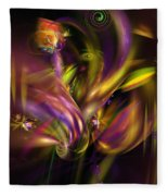 Abstract 05171 Fleece Blanket