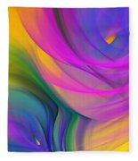 Abstract 060611b Fleece Blanket