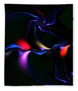 abstract 060910A Fleece Blanket