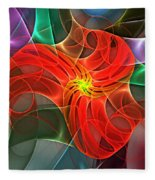 Abstract 061710a Fleece Blanket