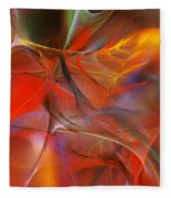 Abstract 062910a Fleece Blanket