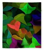 Abstract 063016 Fleece Blanket