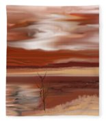 Abstract 080210 Fleece Blanket