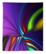 Abstract 080610a Fleece Blanket