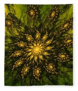 Abstract 090110 Fleece Blanket