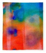 Abstract 1 Fleece Blanket