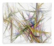 Abstract 10-16-09-2 Fleece Blanket