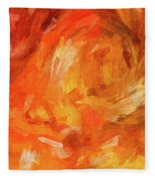 Abstract 106 Digital Oil Painting On Canvas Full Of Texture And Brig Fleece Blanket
