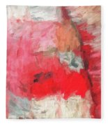 Abstract 107 Digital Oil Painting On Canvas Full Of Texture And Brig Fleece Blanket