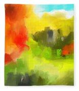 Abstract 112210 Fleece Blanket