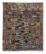 Abstract #141 Fleece Blanket
