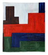 Abstract 343 Fleece Blanket