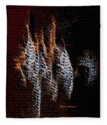 Abstract 401 Fleece Blanket by Rafael Salazar