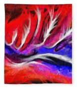 Abstract #45 Fleece Blanket