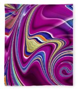 Abstract #49 Fleece Blanket