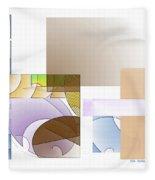 Abstract #503 Fleece Blanket
