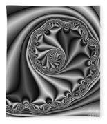 Abstract 536 Bw Fleece Blanket