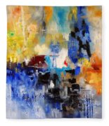 Abstract 69070 Fleece Blanket